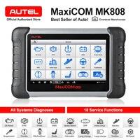 원래 Autel MaxiCOM MK808 자동차 진단 도구 모든 시스템 OBD2 진단 도구 자동차 스캐너 자동 코드 리더 스캔 도구|엔진 분석기|자동차 및 오토바이 -