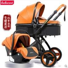 Роскошная детская коляска belecoo 2 в 1 с высоким ландшафтом