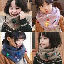 Warm Scarf A187 Baby Knitted Collar Autumn Thick Winter Boys Cute Cactus New Cartoon