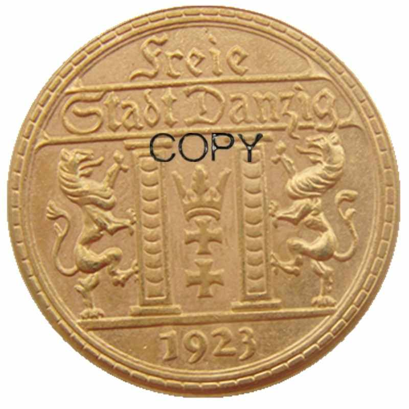 Năm 1923 Ba Lan 25 Gulden Mạ Vàng Bản Sao Đồng Xu