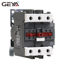 GEYA CJX2-8011  9511 Magnetic AC Contactor 80A 95A Industrial Electric Contactor 1NO1NC with 220V or 380V Coil cjx2 8011 motor starter relay contactor ac 220v 380v 50a voltage optional lc1 d