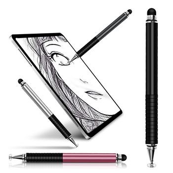 цена на 2 In 1 Stylus For Android Mobile Phone Screen Smartphone Tablet Touch Pen Thick Thin Drawing Stylus Universal Capacitive Pencil