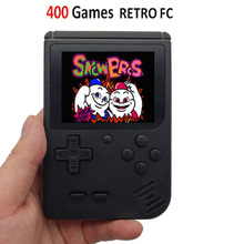 レトロポータブルミニビデオゲームコンソール 8 ビットポケットハンドヘルドゲームプレーヤー内蔵 400 1 古典的なゲームで最高のギフトゲームボーイ