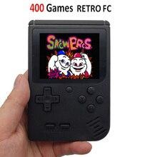 الرجعية المحمولة مصغرة لعبة فيديو وحدة التحكم 8 بت جيب يده لعبة لاعب المدمج في 400 في 1 الكلاسيكية ألعاب أفضل هدية لعبة الصبي