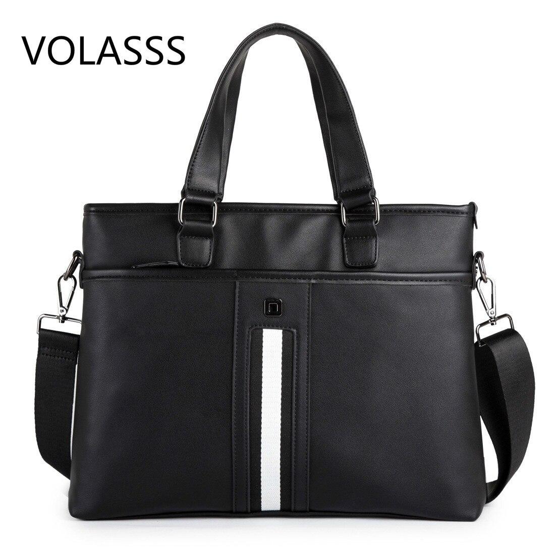 Classic Woman Men's Briefcases Leather Business Office Computer Laptop Bags Vintage Shoulder Crossbody Bags Bolso Hombre Man Bag