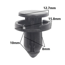 Car Cover Bumper Fascia Retainer Fastener Clip Rivet 8mm Hole For Honda Push Type