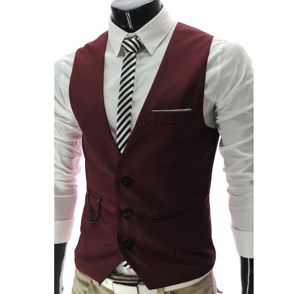 Hb16e66d6bb4948b99b40bb95d86e414dv - 2020 New Arrival Casual Sleeveless Formal Business Jacket Dress Vests For Men Slim Fits Mens Suit Vest Male Waistcoat Homme