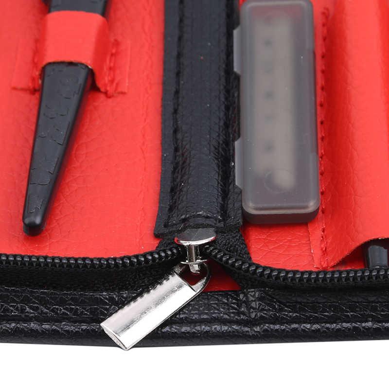 7 шт./компл. Бритва для бровей гребень для бровей набор ножниц подходит для профессионального или домашнего использования черный цвет подарок высокое качество