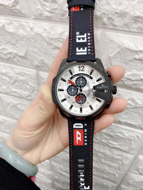 Luxury Brand New Stainless Steel Men Watch Mega Chief Chronograph Sapphire Sport StopWatch Oversized Black Nylon Watches 51mm
