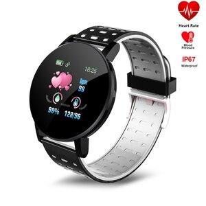 Смарт-браслет 119 Plus D18, фитнес-трекер артериального давления, пульсометр, водонепроницаемые спортивные носимые часы для Android и IOS