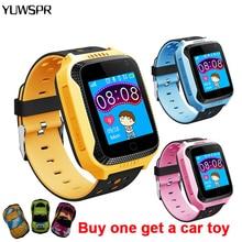 Детские часы GPS трекер SOS местоположение вызова фонарик камера Дистанционное прослушивание с подарками Q528 Y21 Детские умные часы