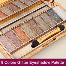 9 couleurs paillettes Fard à paupières Palette Maquillage Yeux Maquillages Pour Femmes Palette Fard à paupières Oogschaduw cosmétiques