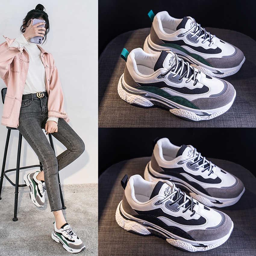 Bimuduiyu Nieuwe Chunky Sneakers Vrouwen Mode Designer Oude Papa Schoenen Comfortabele Vrouwelijke Vulcaniseer Schoenen Dames Platform Schoeisel