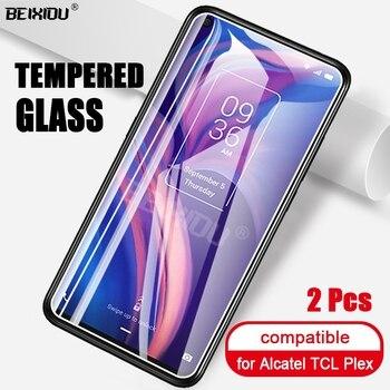 Перейти на Алиэкспресс и купить 2 шт Полное закаленное стекло для Alcatel TCL Plex защита экрана 2.5D 9h закаленное стекло для Alcatel TCL Plex защитная пленка