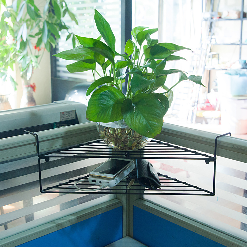 / Green Plant Potted Plant Shelf To Work In An Office Desktop Cassette Triangle Flower Rack Balcony Suspension Flowerpot Frame
