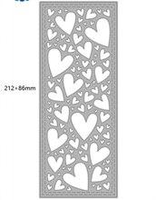 Corte de metal slimline coração fundo scrapbooking estêncil corte morrer para diy cartão artesanato artesanal