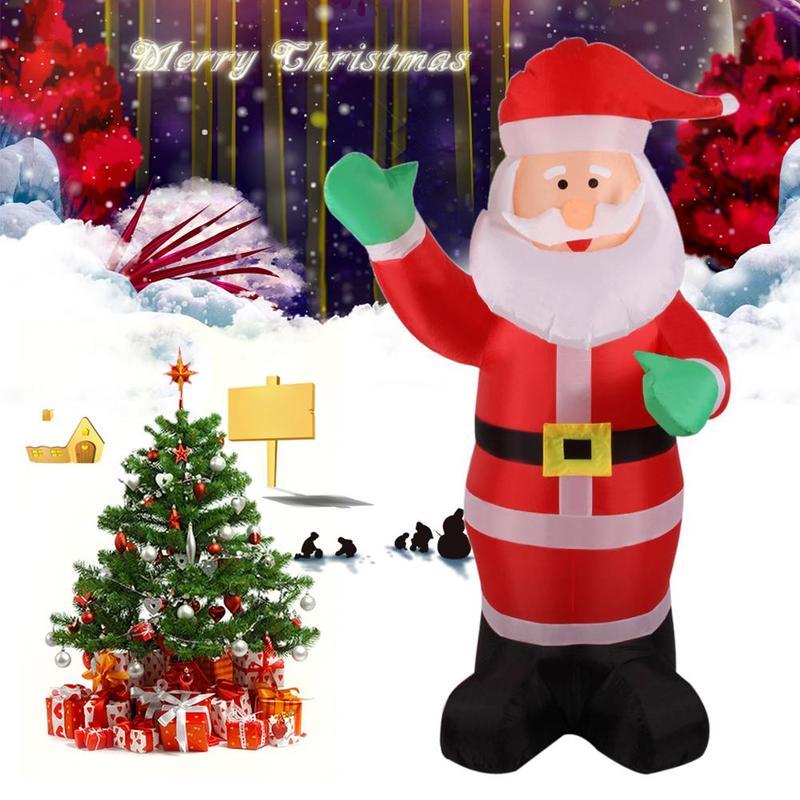 1.8m Waterproof Christmas Inflatable Santa Claus Christmas Inflatable Toys Party Decoration Green Hands Inflatable Santa Claus
