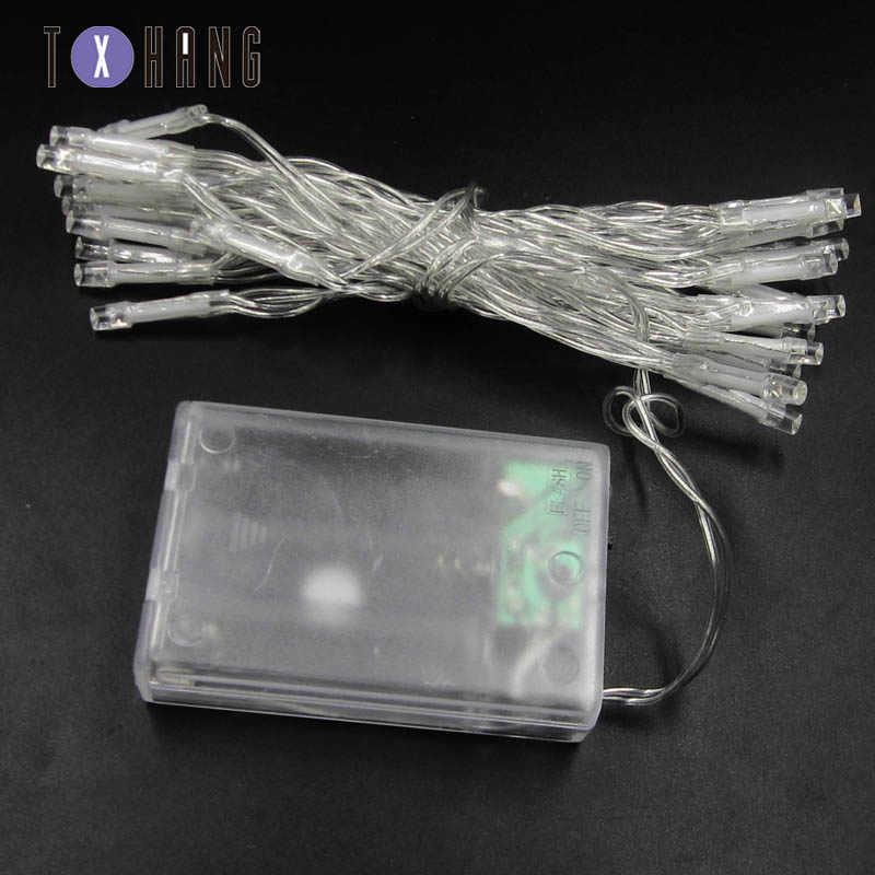 Led Strip Licht 3Pcs Aa Batterij Aangedreven Rgb Koperdraad Holiday String Verlichting Voor Fairy Kerstbomen Party Thuis licht