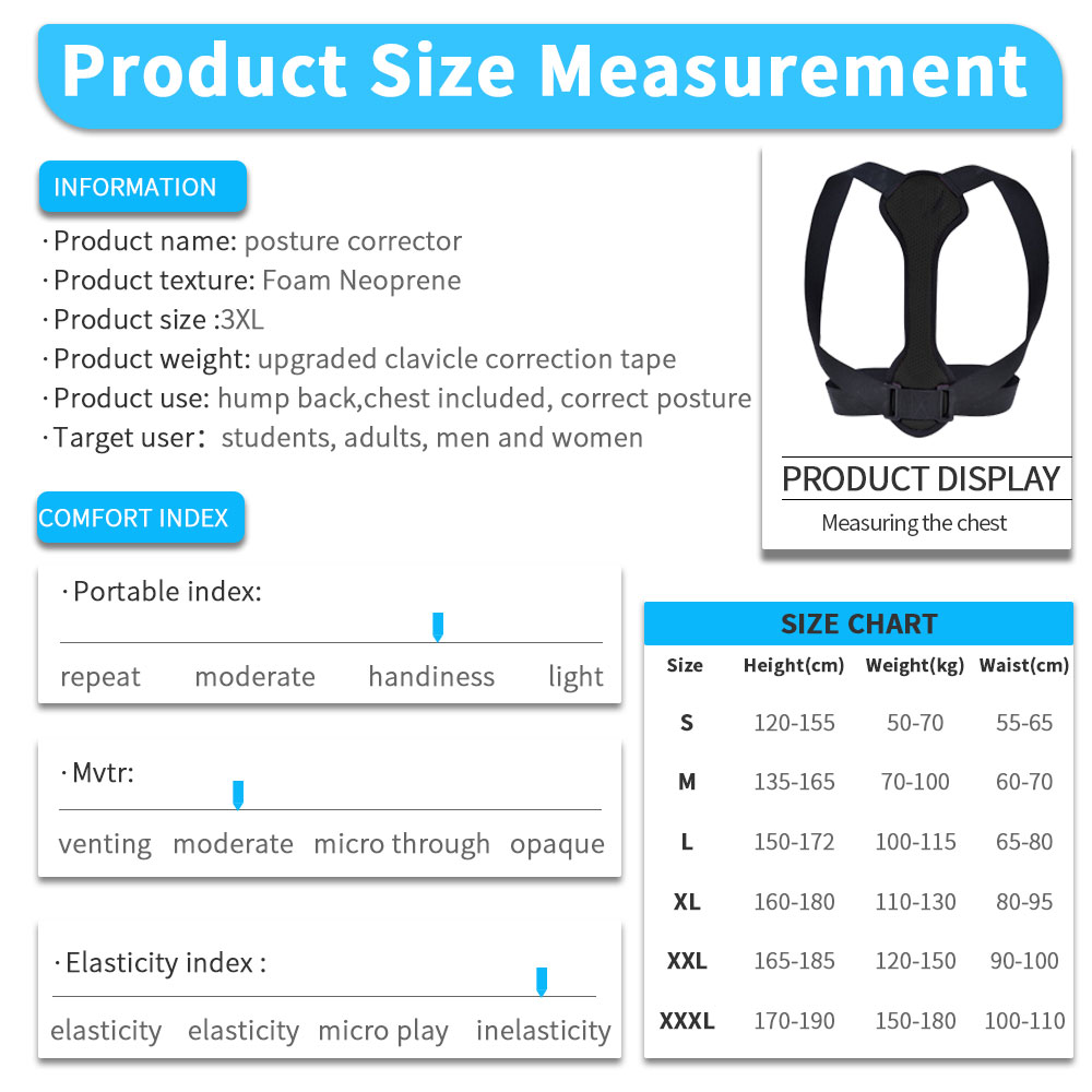 Back Posture Corrector Women Men Prevent Slouching Relieve Pain Posture Straps, Clavicle Support Brace 6