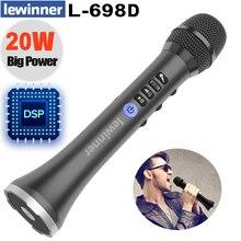 Lewinner L 698DSP profissional 20w bluetooth karaoke microfone alto falante sem fio portátil mini casa ktv para cantar e jogar música