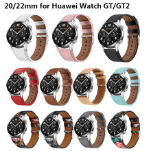 Genuine Leather Watch Band for Huawei Watch GT/GT2 Watchband 20/22mm Strap Replacement Watch Strap for Huawei Watch GT2 Bracelet isunzun watch band for cartier w7100037 w7100041 genuine leather watch strap for men and women leather watchband free shipping