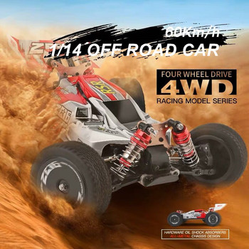 JTY Wltoys 1:14 60km/h RC Cars Remote Control Car Alloy Body 4WD Drift Racing Car High Speed Off-Road Vehicle For Adults Child недорого