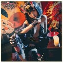 все цены на UWOWO Fate Grand Order Shuten-douji Anime Cosplay Costume Assassin Women Costume Uniform Full Set Cosplay Costume онлайн