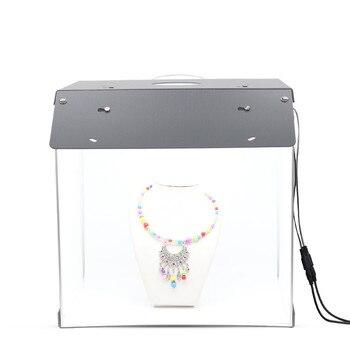 New SANOTO 40cm Photo Studio Box Photography Backdrop portable Softbox LED Light Photo Box fold Photo Studio Soft Box