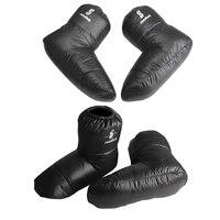 2 paar Weiche Ente Unten Hausschuhe Winter Warme Zelt Booties Schuhe Abdeckung|Outdoor-Werkzeuge|   -