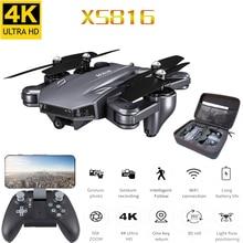 XS816 RC Drone flujo óptico 4K Drone con doble cámara Wifi FPV Drone Control de gestos helicóptero Quadcopter para niños