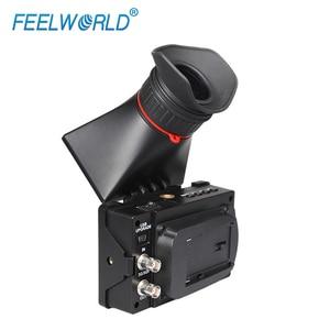 Image 3 - FEELWORLD S350 3,5 zoll EVF 3G SDI HDMI Elektronische Sucher 800x480 LCD Display Lupe Lupe für DSLR Kamera