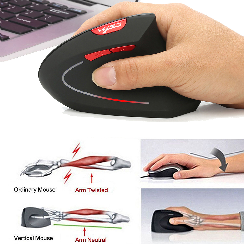 Bluetooth Vertical Mouse Ergonomics 800/1600/2400DPI Prevention Mouse Hand Game Office Mice Pc Notebook Accessories