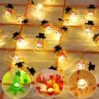 20 LEVOU Seqüência de Luz De Natal Enfeites de Árvore de Natal Decoração Feliz Natal Xams Navidad Decorações para Casa Decoração de natal