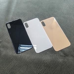 Image 4 - 10 sztuk Big Hole metalowa rama pokrywa baterii tylne drzwi obudowy telefonu obudowa tylna pokrywa dla iPhone X XS MAX szklane ciało powrót obudowa