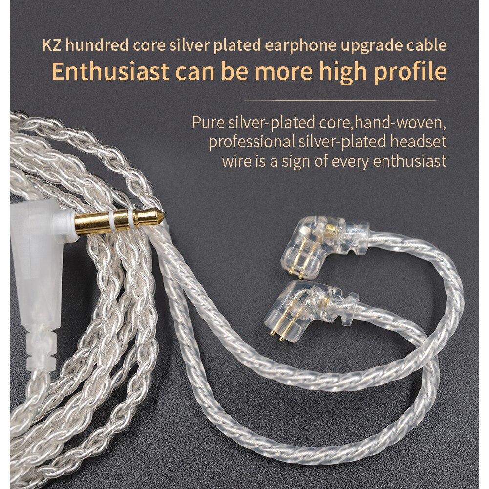 Бесплатная доставка KZ ZSN EDX посеребренный высокой чистоты бескислородный медный кабель для KZ ZSN Pro ZS10 PRO ZSX ZST BA10 C12