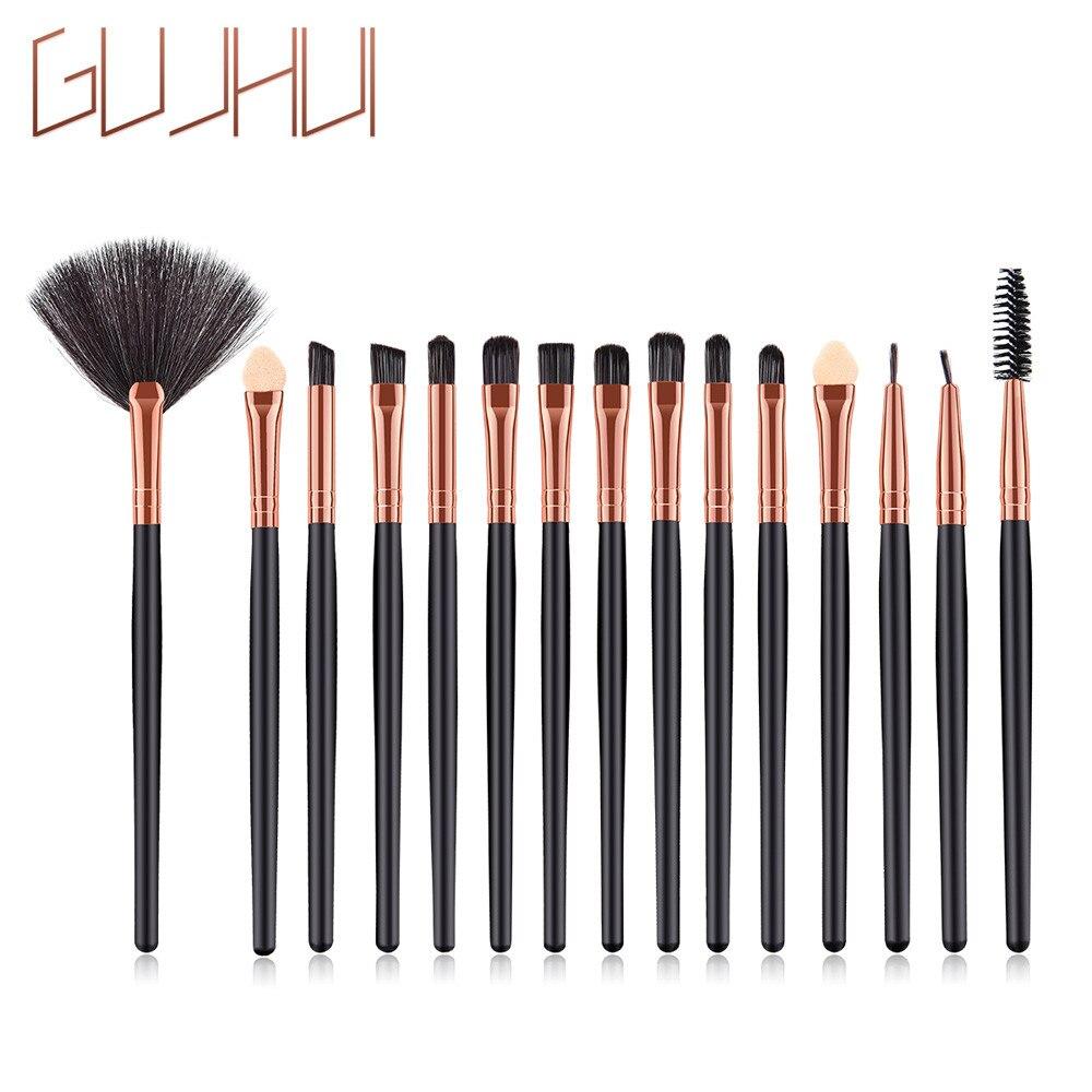 Fashion Girl Single Product 15 Pcs Wood Makeup Brush EyeShadow Brush Cosmetics Blending Brush Tool Pincel de maquiagem zsmw