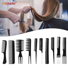 Alileader Cheapest 10Pcs Hair Comb Professional Salon Hair Hairdressing Anti-Static Barbers Comb Tail Comb With Free Storage Bag
