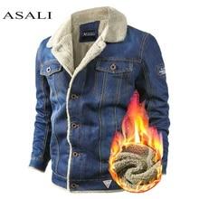 Inverno denim jaqueta dos homens casuais 2020 homem fino ajuste denim jaquetas casaco outwear lã masculina forro jeans quente cowboy jaqueta