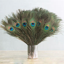 10pcs / Set 26-30cm In Length Beautiful Natural Peacock Feathers DIY Clothes Decoration Wedding Party Peacock Tail Feathers wholesale 50pcs lot natural peacock feathers for crafts 25 80cm natural peacock feathers eyes for wedding decoration plumes