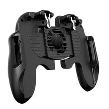 携帯電話クーラーpubgコントローラーゲームパッドストルコントローラーシューターコントローラミュートファンパッドジョイスティックジョイパッドポータブル