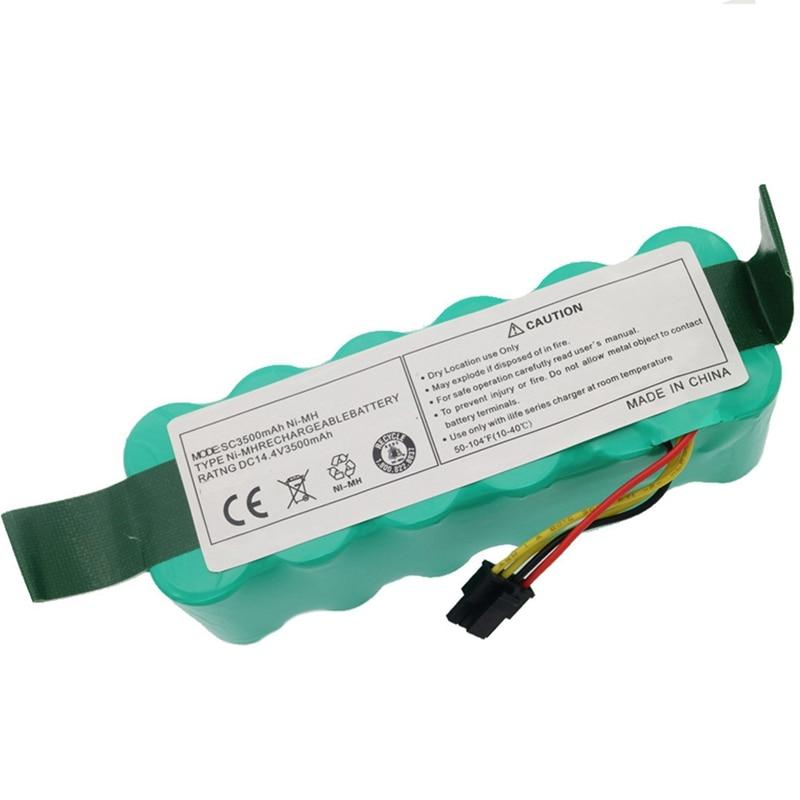 Ni-Mh 14.4V 3500Mah For Panda X500 X600 Battery Battery For Ecovacs Mirror Cr120 Vacuum Cleaner Dibea X500 X580