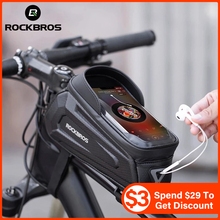 Bike-Bag Saddle-Package Bicycle-Tube Touch-Screen Front-Phone ROCKBROS Waterproof
