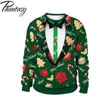 Мужская толстовка phantasy с капюшоном куртка для рождественской