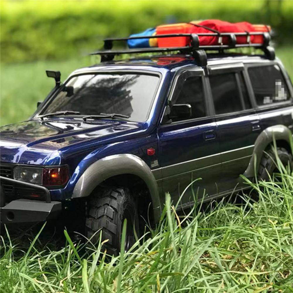  Metal Storage Luggage Rack Roof Top Durable Storage Exterior Carrier For 1/10 Wrangler Pajero RC Car Accessories