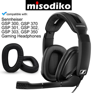 Image 1 - Misodiko poduszki wymienne wkładki do uszu dla Sennheiser GSP 370 300 301 302 303 350 gamingowy zestaw słuchawkowy, naprawa nauszników nauszniki poduszka