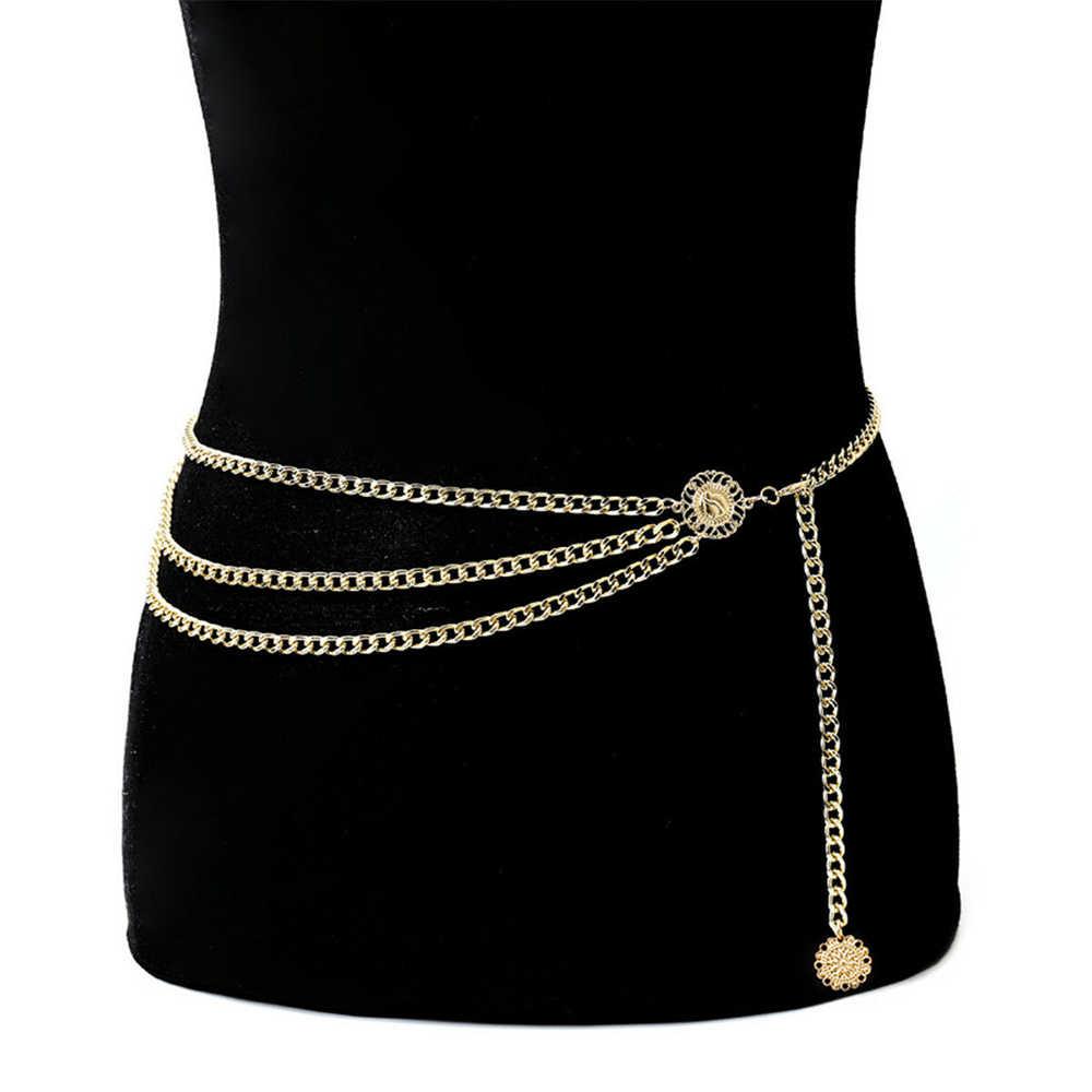 נשים מתכת שרשרת פרל סגנון חגורת גוף שרשרת נקבה סגסוגת רב שכבתי יד חגורות חגורת תכשיטי Accesorries יוקרה