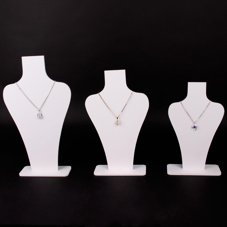 FashionAcrylic Earrings Necklace Jewelry Organizer Neckalce Manequine Case Rack Stand Organizer Holder  Jewelry Display Stand