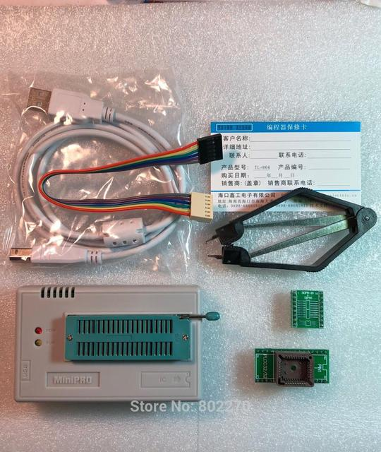 V10.33 XGecu TL866II Plus USB Programmer support 15000+IC SPI Flash NAND EEPROM MCU PIC AVR replace TL866A TL866CS +2 adapters