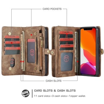 Luxury Leather Flip Case for iPhone 11 Phone Case Wallet Covers Magnetic Business Case For iPhone 11 Pro Max Capa Coque Hoesje 3