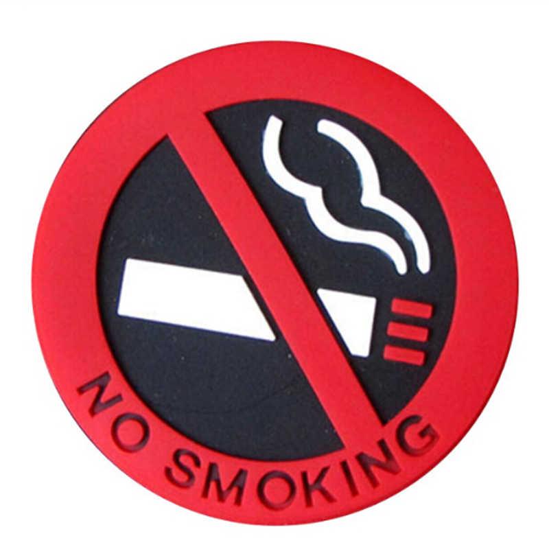 1pcs No Smoking Logo Car Stickers for touran golf 6 audi a5 q3 toyota bmw x6 renault kadjar volvo v70 cruze 2010 w220 touran
